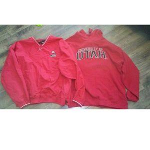 University of Utah sweatshirt and pullover (two)